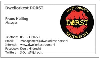 DORST visitekaartje manager 2012